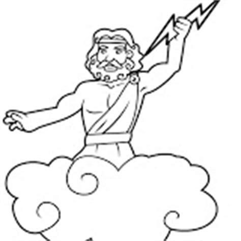 imagenes de dios zeus para dibujar colorear dibujos de zeus