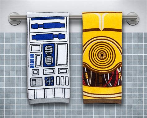 geeky bathroom decor star wars hand towels for the geeky bathroom geek decor