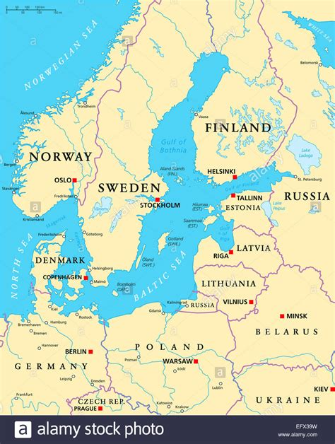 map of baltic sea baltic sea area political map with capitals national