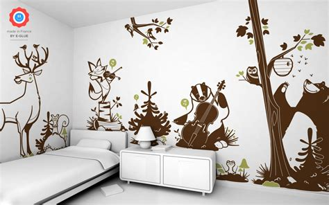 Forest Wall Stickers forest animals kids wall decals forest theme nursery or