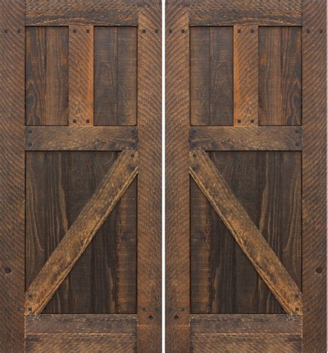 Rustic Doors by Barnwood Doors Barn Door Made Entirely Out Of Reclaimed
