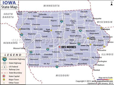 state of iowa map map of iowa us states