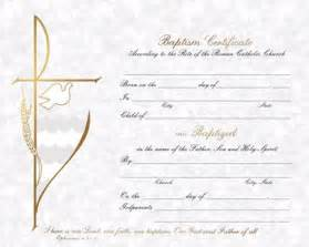 catholic baptism certificate template baptism certificate box of 50 certificates