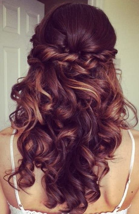 homecoming hairstyles for long hair half up cute prom hairstyles for long hair 2016