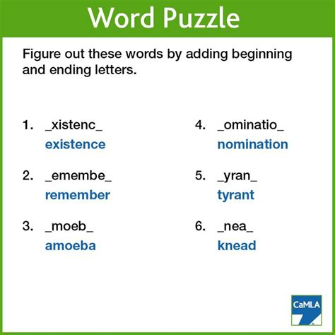 5 Letter Words Riddle 17 best images about word puzzle answers on