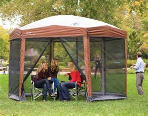Coleman Instant Up Screen House With Awnings by Spacious Pop Up Canopy With Screen Walls Canopykingpin