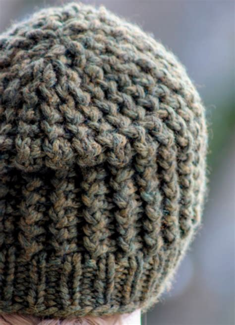 knitting pattern hat bulky yarn super bulky knit men s beanie allfreeknitting com