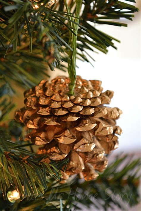 pine cone ornaments gilded pine cone ornament knockoff whats ur home story