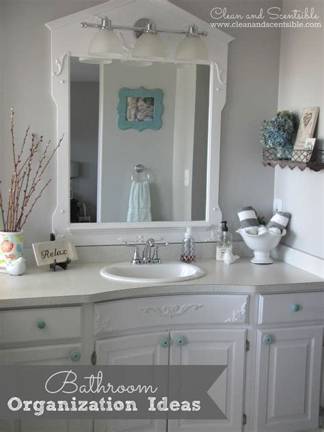 bathroom organization ideas clean and scentsible