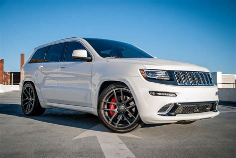 white jeep grand wheels white jeep srt8 velgen wheels vmb5 jeep garage jeep