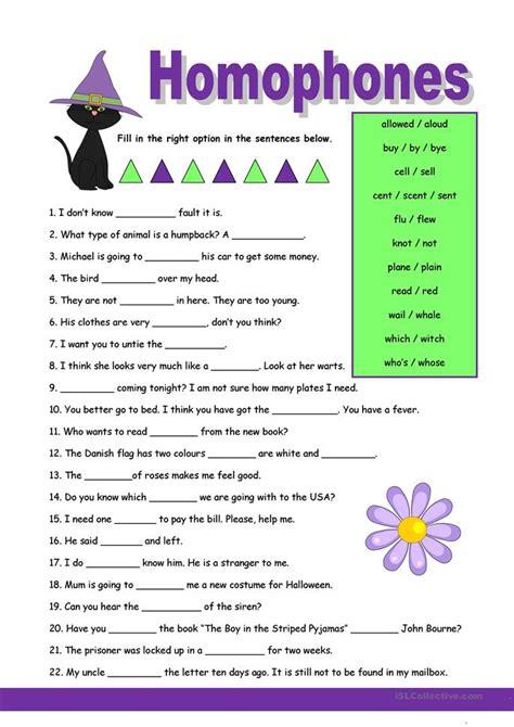 Homophones Worksheets by Homophones 1 Worksheet Free Esl Printable Worksheets