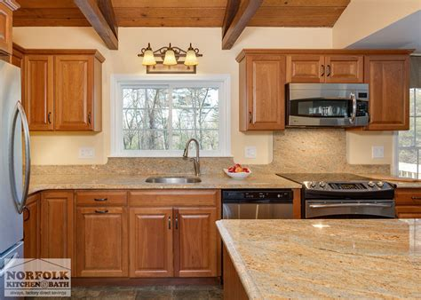 Norfolk Kitchen by Traditional Cherry Kitchen With Exposed Beams Norfolk
