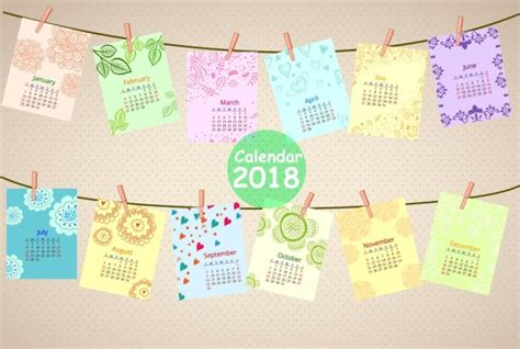 Calendario 2018 Illustrator Calendarios En Vector 2018 Para Descargar Gratis Illustrator