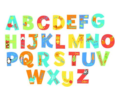 Wall Letter Decals For Nursery Funtosee Stickers Funtosee A Is For Alphabet Nursery Wall Stickers