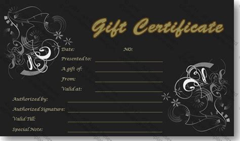 gold gift card template gold in black gift certificate template