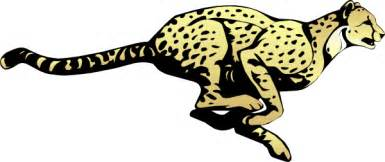 Running Cheetah Outline by Running Cheetah Clip At Clker Vector Clip Royalty Free Domain