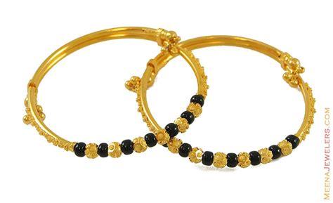 black bangles for baby 22k black bangle baba7762 22k gold designer