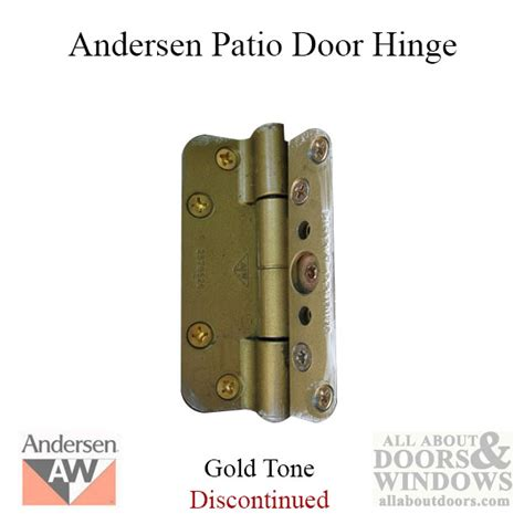 Andersen Door Parts by Andersen 1989 1991 Patio Door Hinge Gold Tone See Notes