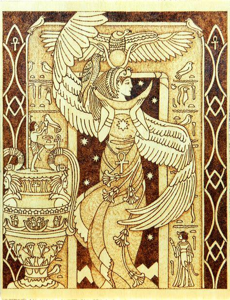 arts n crafts goddess of motherhood and magic wood by