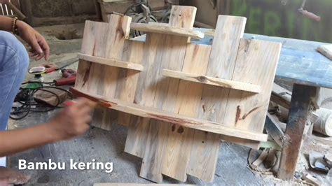 membuat sendiri rak dinding  limbah kayu youtube