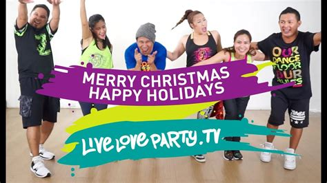 merry christmas happy holidays  love party zumba dance fitness youtube