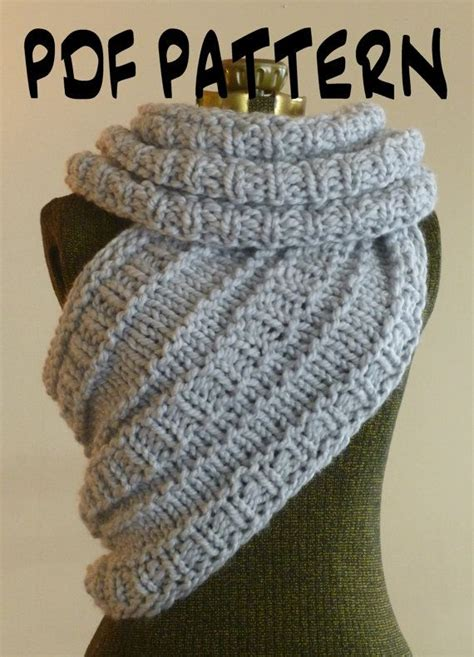 katniss knitted cowl pattern instant knitting pattern the katniss inspired