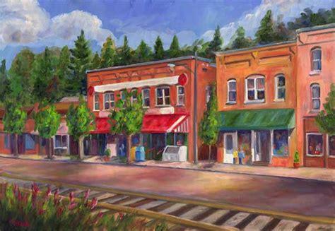 Jeff Home Saluda Tracks Oil Painting