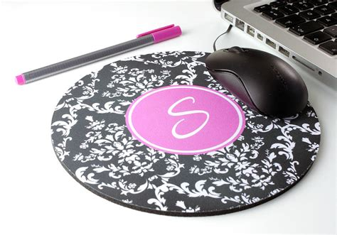 Personalised Mouse Mats by Personalised Damask Mouse Mat By We To Create