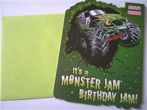 printable monster jam birthday cards pinterest the world s catalog of ideas