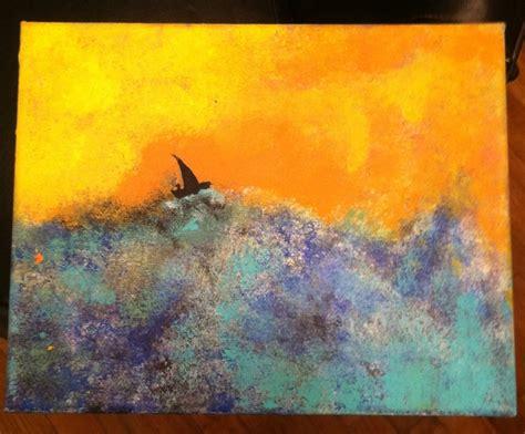 acrylic painting with sponge quot turning point quot acrylic on canvas painting sponge