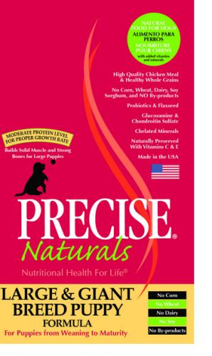 naturals large breed puppy food precise naturals large and breed puppy formula food petflow
