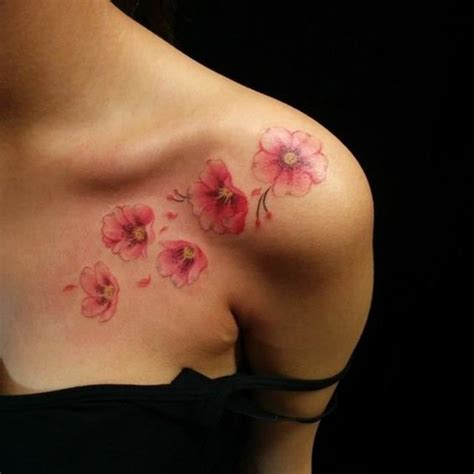 cherry blossom tattoos for women best tattoos 2017