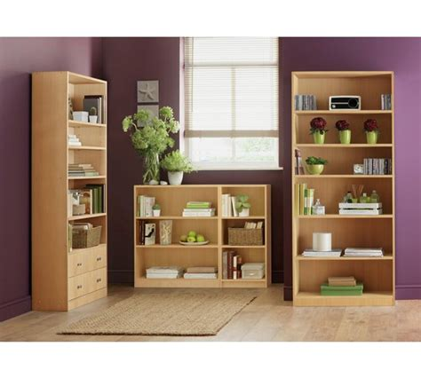 buy home maine small bookcase beech effect at