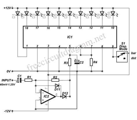 Ic Lb1403 10 led vu meter using lm3915 circuit diagram world