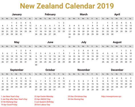 printable monthly calendar new zealand new zealand calendar 2019 download printcalendar xyz