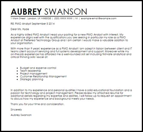 strategy analyst cover letter strategic analyst cover letter sarahepps