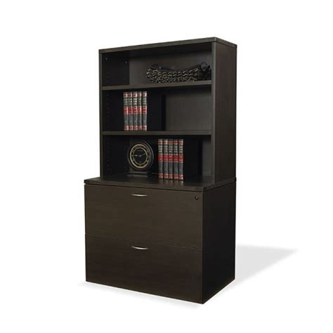 file cabinet with hutch napa espresso 2 drawer lateral file cabinet with hutch