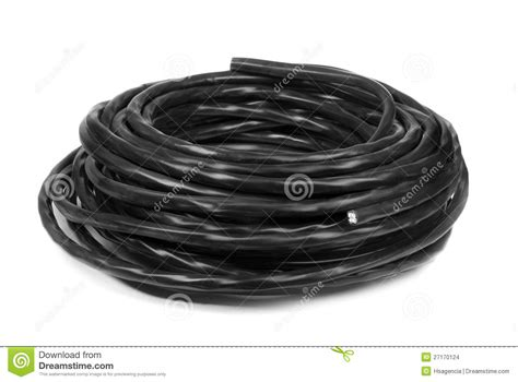 black electrical cable stock images image 27170124