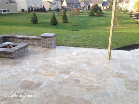 Travertine Backyard by Walnut Travertine Pavers Traditional Patio