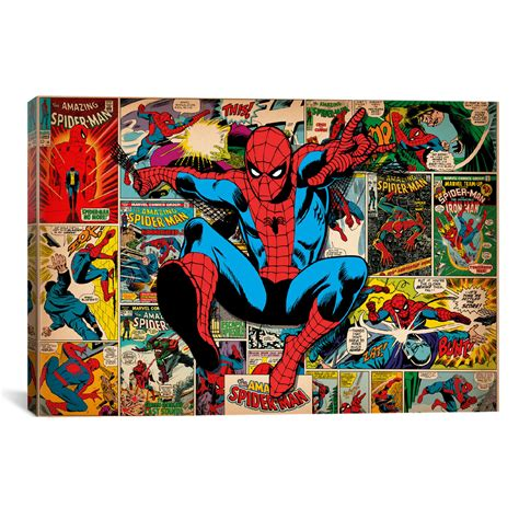 Enya Marvel 26 H marvel comics spider covers panels 40 quot w x 26 quot h x 0 75 quot d icanvasart touch of modern