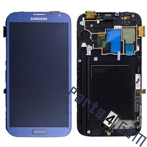 Lcd Galaxy 2 samsung galaxy note ii lte n7105 lcd display module blue