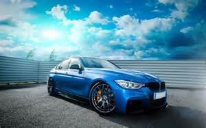 bmw 335i f30 voiture de roues bleu tuning hd papier peint