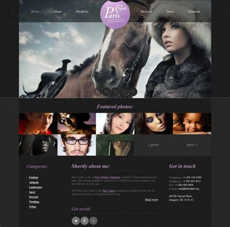 70 Best Photography Website Templates Free Premium Freshdesignweb Best Photography Website Templates