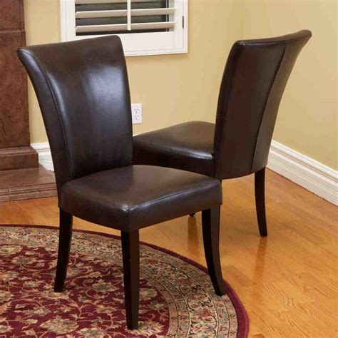 Leather Dining Room Chairs by Brown Leather Dining Room Chairs Decor Ideasdecor Ideas