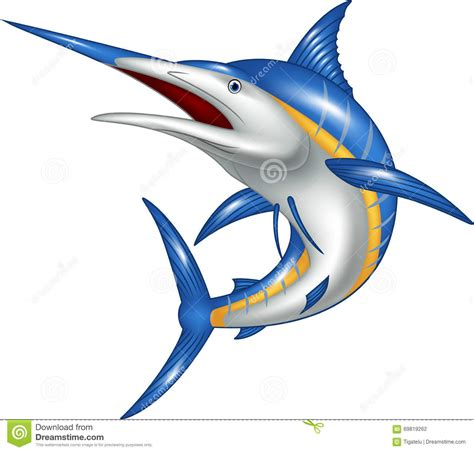 pesci clipart marlin fish stock vector illustration of icon