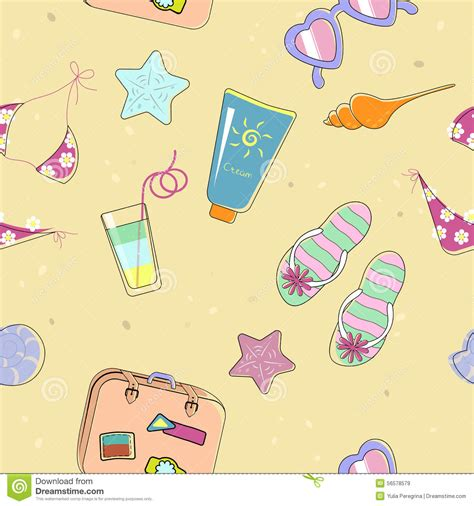 background pattern beach seamless beach pattern for summer stock vector image