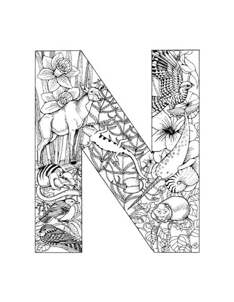 letter n coloring pages coloring home