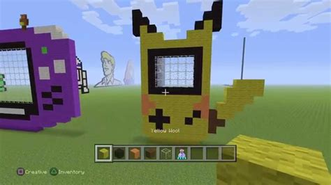 Minecraft Pixel Tutorial Pikachu Gameboy