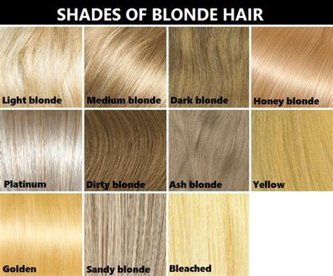 types of blondehighlights types of blonde hair color chart hairstylegalleries com
