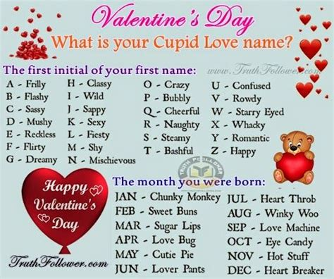 whats the story valentines day what is your cupid name pictures photos and images